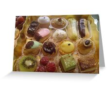Petits fours Greeting Card