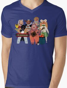 Rockafire- Showbiz Pizza Characters Mens V-Neck T-Shirt