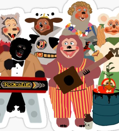 Rockafire- Showbiz Pizza Characters Sticker