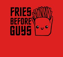 Fries Before Guys Funny I love Food T shirt Sign for Girls Womens Fitted T-Shirt