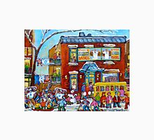 FAIRMOUNT BAGEL MONTREAL WINTER FUN CANADIAN  PAINTINGS Unisex T-Shirt