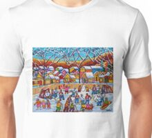 TTHE SKATING PARTY WINTER COUNTRY FUN  Unisex T-Shirt