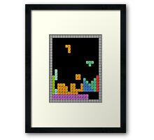 Periodic Tetrominoes Framed Print