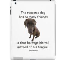 A Dog Has Friends - 2 iPad Case/Skin