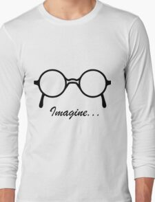 Imagine John Lennon Song Lyrics Quotes The Beatles Rock Music Long Sleeve T-Shirt