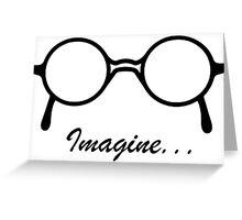 Imagine John Lennon Song Lyrics Quotes The Beatles Rock Music Greeting Card