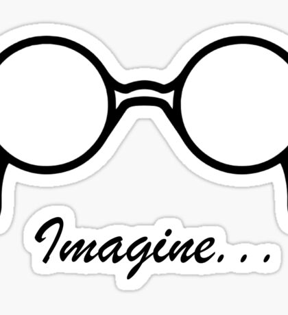 Imagine John Lennon Song Lyrics Quotes The Beatles Rock Music Sticker