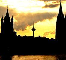 Sonnenuntergang in Köln mit Kölner Dom  Sticker