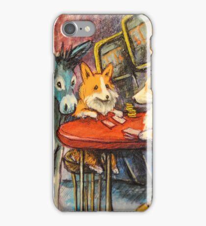 Donkey~Pembroke Corgi~Dog~Gamble~Cripple Creek Colorado iPhone Case/Skin