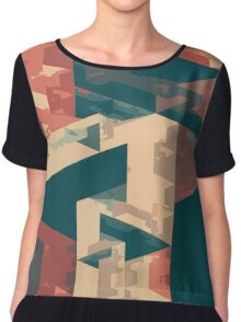 Abstract Triangles Chiffon Top