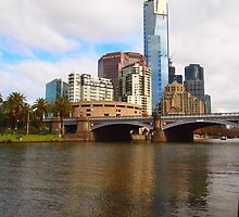 Downtown Melbourne on an Autumn afternoon VIC Australia by Margaret Morgan (Watkins)