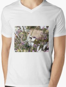 Bumble bee on pretty flower Mens V-Neck T-Shirt