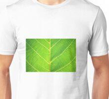 Natur Infrastruktur eines grünen Blattes Unisex T-Shirt