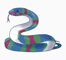 Polysssexual Snake sticker by greentorsos