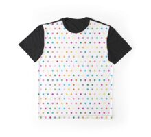 Pattern in the small dots. Ornament with color polka in the style of Disco, Pop Art Graphic T-Shirt