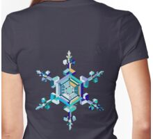 Ice Crystal Womens Fitted T-Shirt