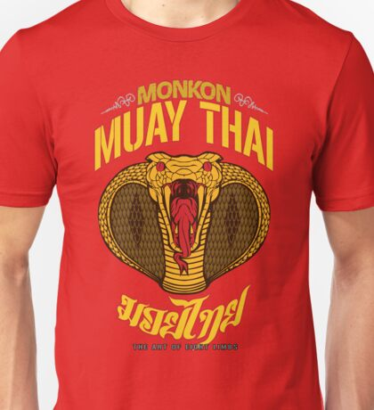 monkon muay thai cobra thailand martial art sport logo new color Unisex T-Shirt
