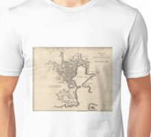 Vintage Map of Plymouth England (1765) Unisex T-Shirt