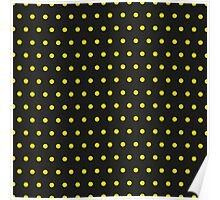 Pattern in the small dots. Ornament with color polka in the style of Disco, Pop Art Poster