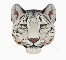 Snow Leopard Face Kids Tee