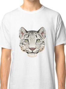 Snow Leopard Face Classic T-Shirt