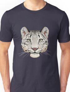 Snow Leopard Face Unisex T-Shirt