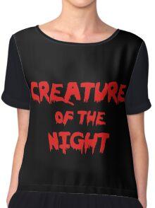 Creature of the Night Chiffon Top