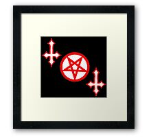 THE DEVILS WORK Framed Print