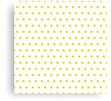 Pattern in the small dots. Ornament with color polka in the style of Disco, Pop Art Canvas Print