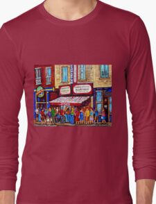 SCHWARTZ'S DELI SMOKED MEAT SANDWICHES MONTREAL Long Sleeve T-Shirt