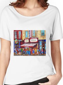 SCHWARTZ'S DELI SMOKED MEAT SANDWICHES MONTREAL Women's Relaxed Fit T-Shirt