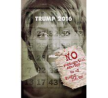 Donald J. Trump presidential debates strategy ideas. Photographic Print