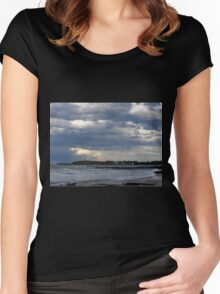 The Lighthouses, Wollongong, NSW, Australia. Women's Fitted Scoop T-Shirt