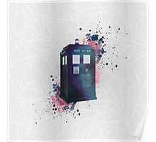 Doctor Who - TARDIS - geometrical - watercolor Poster