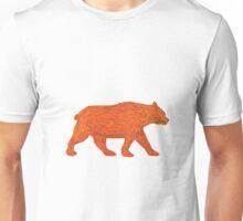 American Black Bear Walking Side Retro Unisex T-Shirt