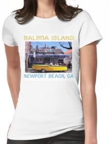 Balboa Island Boat Car- Newport Beach Womens Fitted T-Shirt