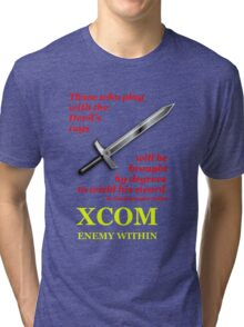 XCOM Enemy Within Opening Quote Tri-blend T-Shirt
