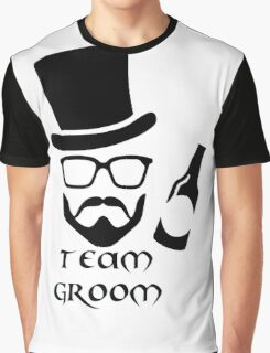 Team Groom Hipster Graphic T-Shirt