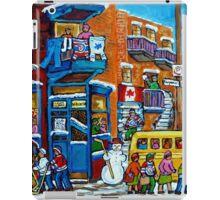 WILENSKY'S LUNCH COUNTER MONTREAL WINTER FUN IN NEIGHBORHOOD CANADIAN ART iPad Case/Skin