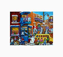 WILENSKY'S LUNCH COUNTER MONTREAL WINTER FUN IN NEIGHBORHOOD CANADIAN ART Unisex T-Shirt