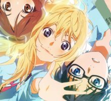 your lie in april waving  Sticker
