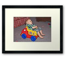 Watching TV Framed Print