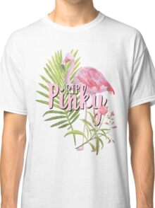 #RIPPinky RIP Pinky the Flamingo In Memory of Florida Pink Flamingo Bird Watercolor Art Classic T-Shirt