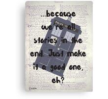 Good Stories Canvas Print