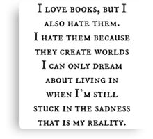 Reality of Books Canvas Print