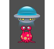Red Cute aliens Photographic Print