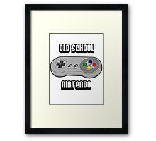 Old School Nintendo Framed Print