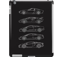 Lamborghini V12 Generations Blueprints iPad Case/Skin