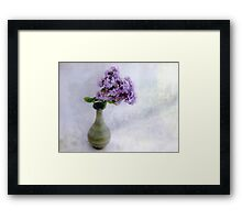 Lilac Time Still Life Framed Print