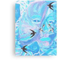 tropical spring parrots Canvas Print